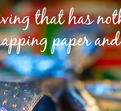 Holiday giving that has nothing to do with wrapping paper and ribbon