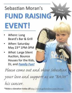 "Help Sebastian ""Bash Cancer"" at a fundraiser this weekend"