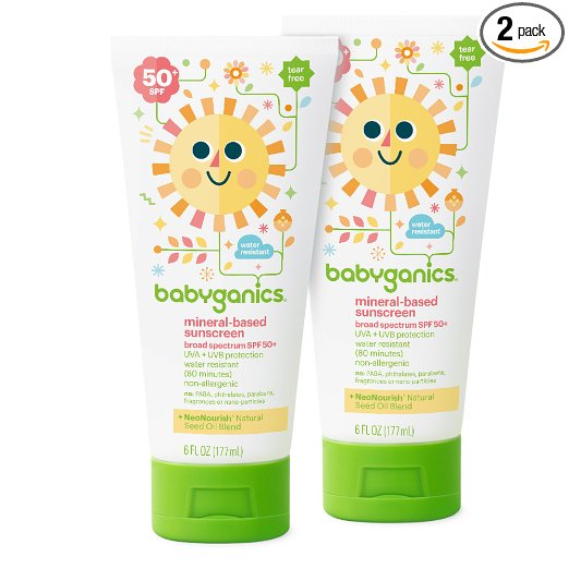 natural sunscreen, safe sunscreen, Babyganics sunscreen