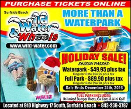 Wild Water & Wheels, Wild Water and Wheels, Wild Water Wheels, Myrtle Beach season passes