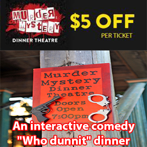 Murder Mystery Dinner Theatre Ticket Discount