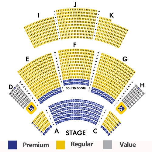 Calvin Gilmore Theatre Seating Chart