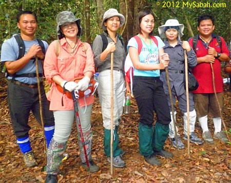 leech socks as jungle trekking outfit