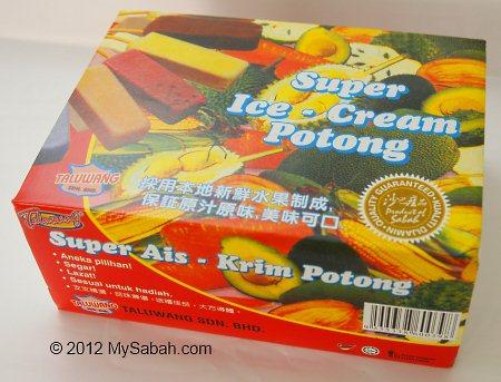 box of Sabah ice-cream