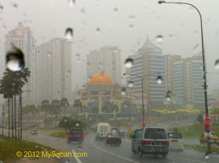 heavy rain at 1Borneo