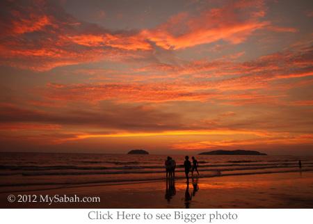 fire cloud sunset of sunset