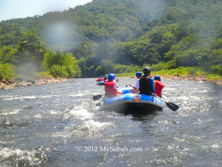 White water rafting in Kiulu River
