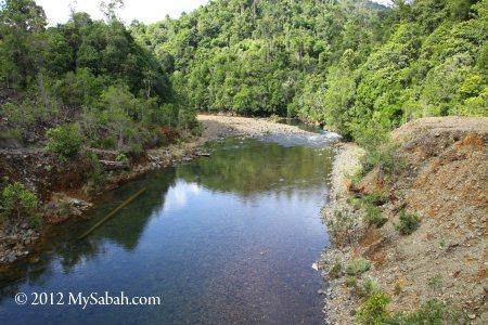 Meliau River (Sungai Meliau) near Telupid