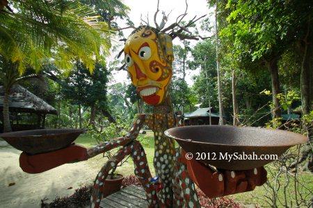 sculpture of Survivor TV reality show