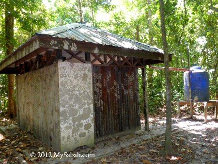 water tank near mud volcano