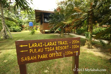 Sabah Parks area on Pulau Tiga Island