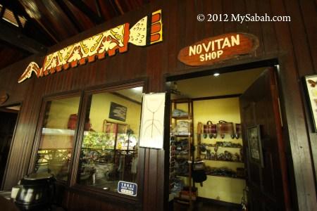 Souvenir shop of Pulau Tiga Resort