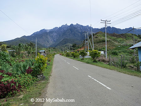 paved road in Kundasang