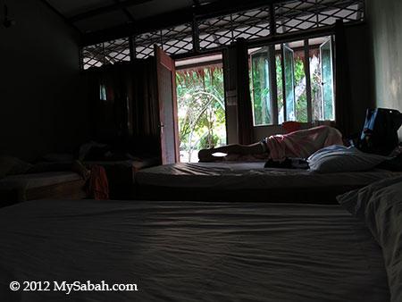 bedroom of Sayang-Sayang Hostel