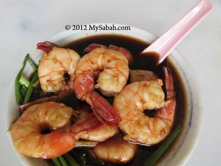 prawns of Seafood Bak Kut Teh