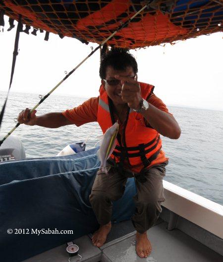 fishing on the board