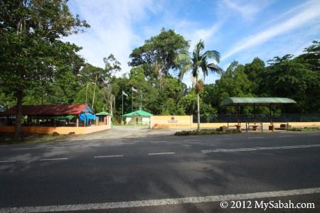 Madai Baturong Forest Reserve Nature Center Kunak at roadside