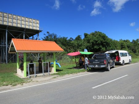 roadside durian stalls