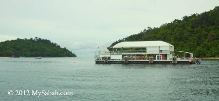 reef activity pontoon on the sea