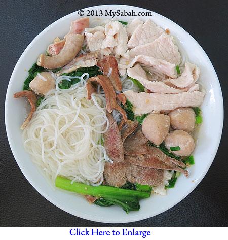 Sabah Pork Noodle Soup