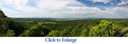 panoramic view of Semporna from Skull Hill (Bukit Tengkorak)