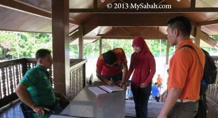 registration before climbing Bukit Tengkorak