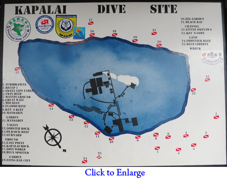 Dive sites of Kapalai Island