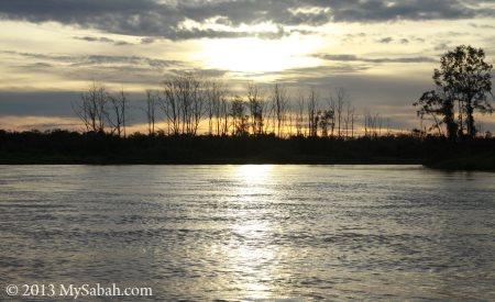 sunset at Weston River