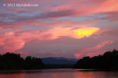 sunset of Weston wetland