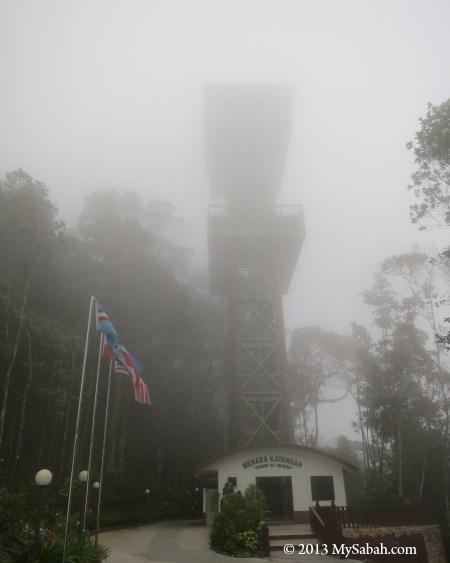 Tower of Heaven (Menara Kayangan) in fog