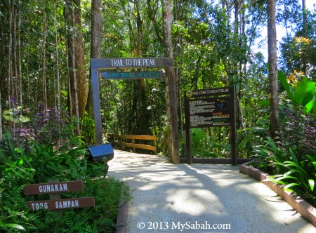 starting of the trail to Mt. Silam
