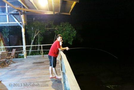 night fishing