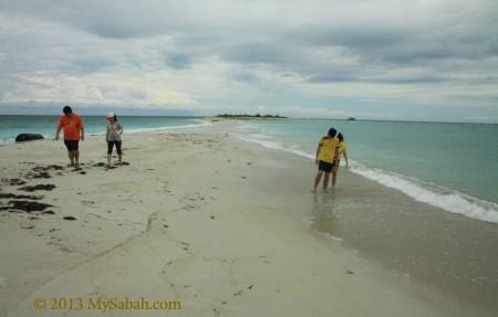 walking on sand bar