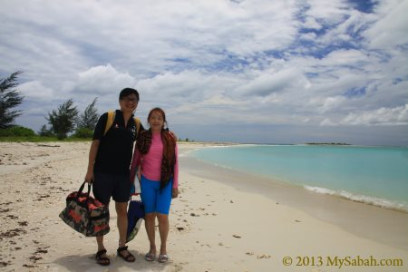leaving Sands Spit Island