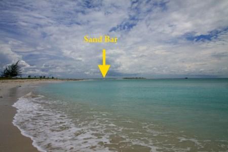 sand bar of Sands Spit Island