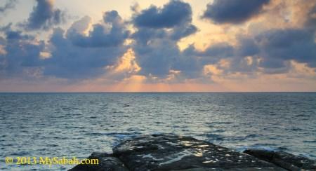 sunset of Tanjung Simpang Mengayau