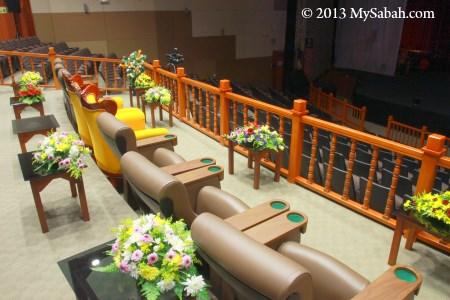 VIP seats in auditorium