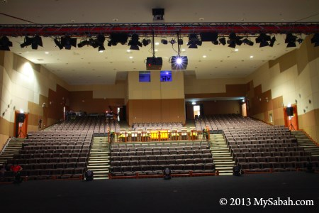 view of auditorium from stage
