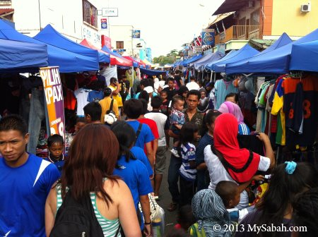 weekend market of Semporna