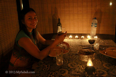 candle light dinner at Taliwas