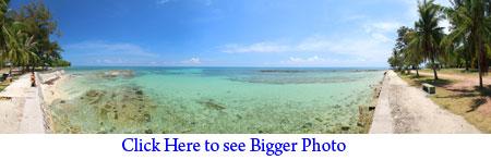 panoramic photo of Bak-Bak Beach