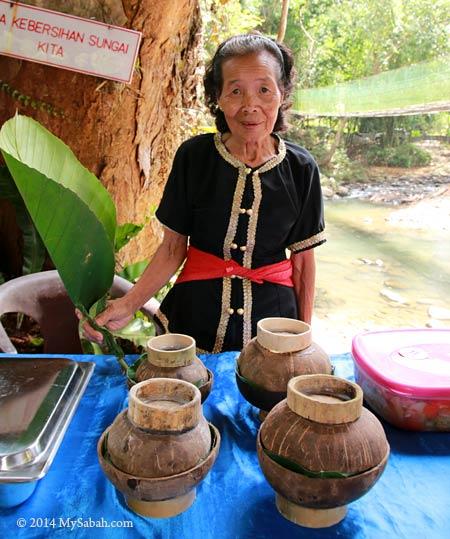 villager serving traditional food