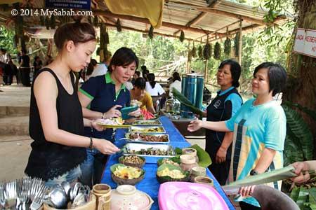 village food buffet
