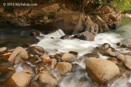 small waterfall of Moyog River