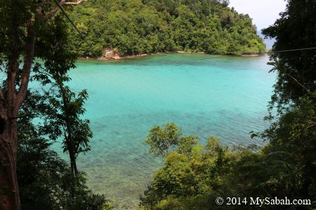 view of Sapi Island from starting point