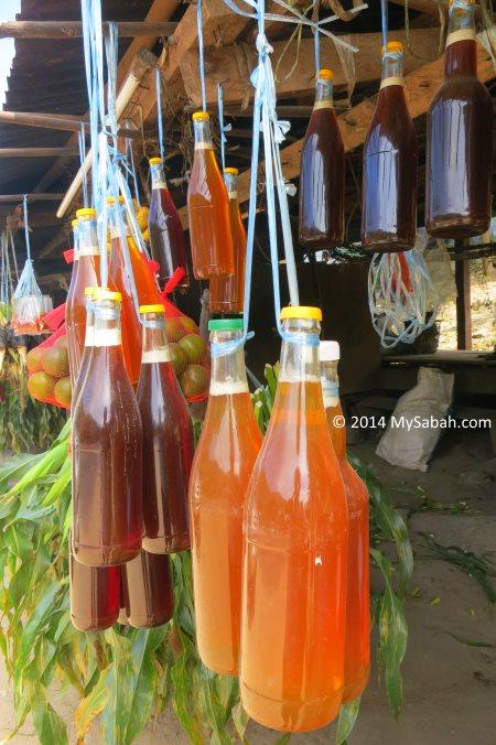 honey for sale at roadside stall