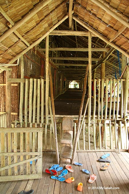 entrance of longhouse