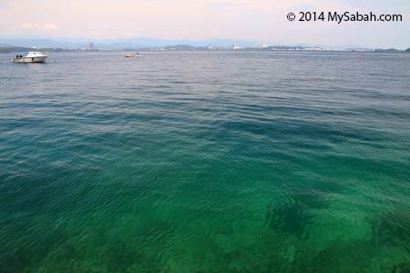 sea at Sepanggar Island