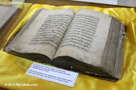handwritten Quran from Kota Belud