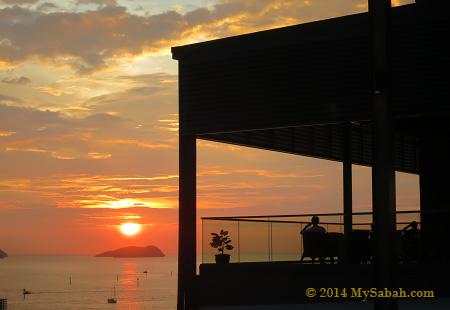 sunset at Sky Blu Bar